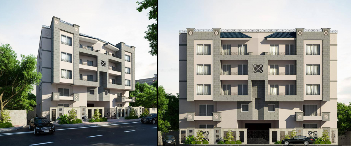 Developing the facades of a residential building in Al Nargis area